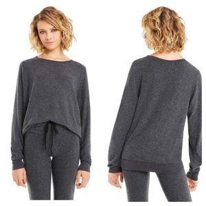WILDFOX Sweatshirt Clean Black Crewneck Size S